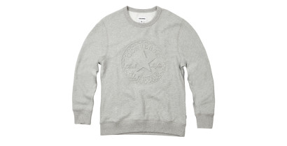 MEN EMBOSSED GRAPHIC CREW