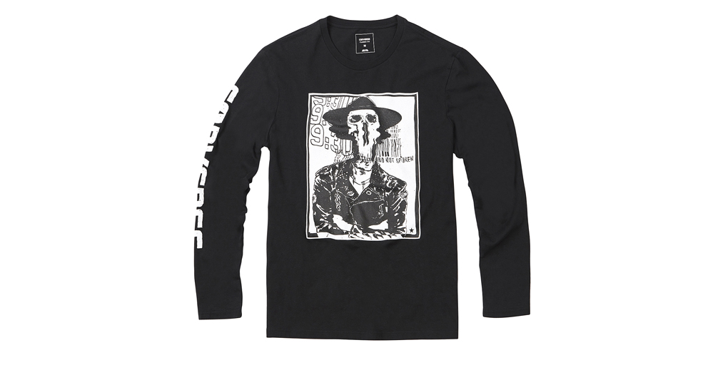 MEN WARPED GIG FLYER LONG SLEEVE T-SHIRT