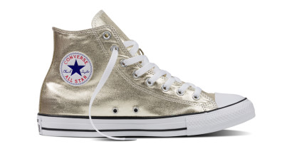 CHUCK TAYLOR ALL STAR METALLIC HI GOLD