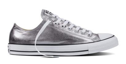CHUCK TAYLOR ALL STAR METALLIC OX SILVER