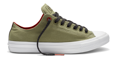 CHUCK TAYLOR ALL STAR II SHIELD CANVAS OX GREEN