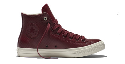 CHUCK TAYLOR ALL STAR II MESH BACKED LEATHER HI DEEP RED