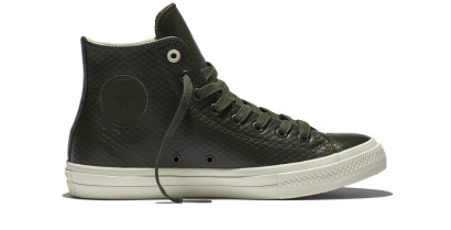 CHUCK TAYLOR ALL STAR II MESH BACKED LEATHER HI GREEN