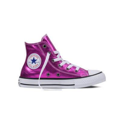 CHUCK TAYLOR ALL STAR HI METALLIC PURPLE (YOUTH)