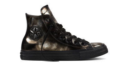 CHUCK TAYLOR ALL STAR BRUSH OFF LEATHER HI BLACK