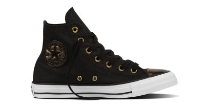CHUCK TAYLOR ALL STAR BRUSH OFF TOECAP HI BLACK