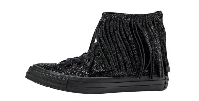 CHUCK TAYLOR ALL STAR FRINGE HI BLACK