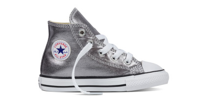 CHUCK TAYLOR ALL STAR METALLIC HI SILVER (INFANT)