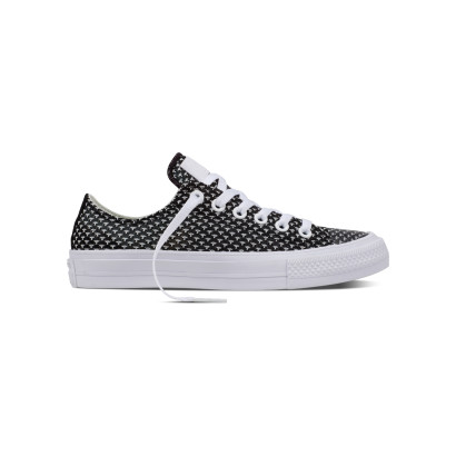 CHUCK TAYLOR ALL STAR II FESTIVAL KNIT OX BLACK/WHITE