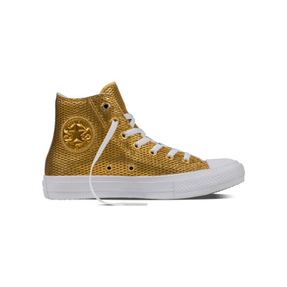 CHUCK TAYLOR ALL STAR II PERF. METALLIC HI GOLD