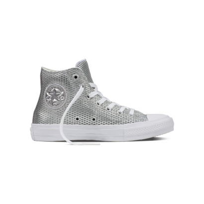 CHUCK TAYLOR ALL STAR II PERF. METALLIC HI SILVER