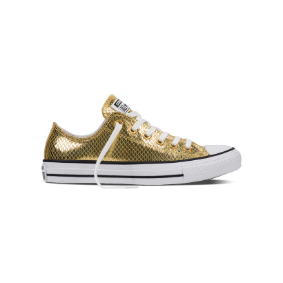 CHUCK TAYLOR ALL STAR METALLIC SNAKE OX GOLD