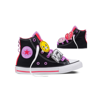 CHUCK TAYLOR ALL STAR LOOPHOLES HI BLACK (JUNIOR)