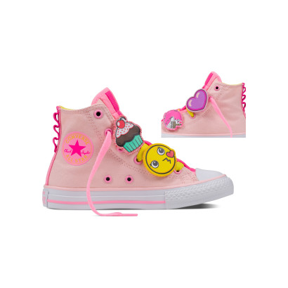CHUCK TAYLOR ALL STAR LOOPHOLES HI PINK (JUNIOR)