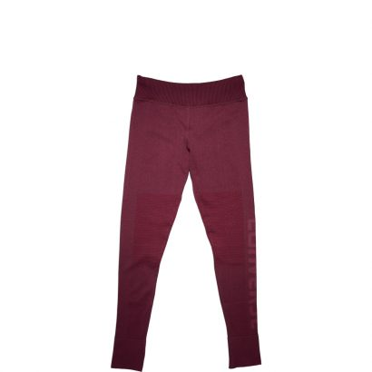 WOMEN ENGINEERED JAQUARD LEGGING RED