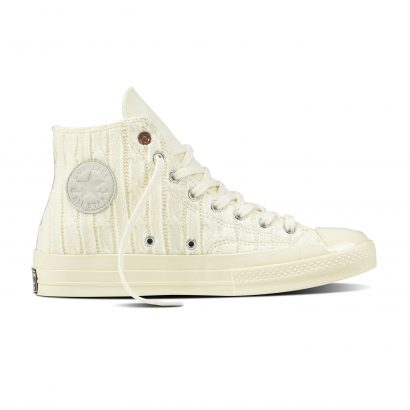 CTAS '70s CABLE KNIT HI WHITE