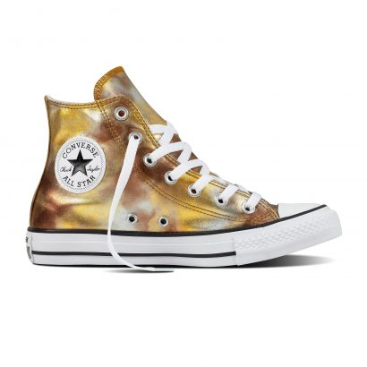 CTAS WASHED METALLIC CANVAS HI GOLD