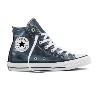 CTAS METALLIC CANVAS HI BLUE