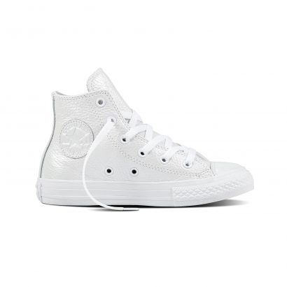 CTAS IRIDESCENT LEATHER HI WHITE (YOUTH)