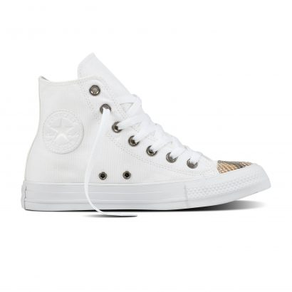CTAS FASHION SNAKE TOECAP HI WHITE