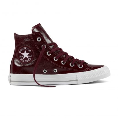 CTAS CRINKLED PATTERN LEATHER HI DARK SANGRIA