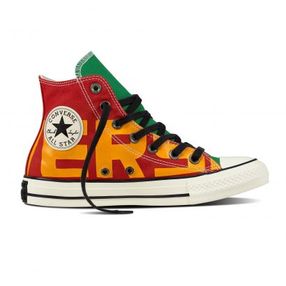 CTAS CONVERSE WORDMARK HI RED
