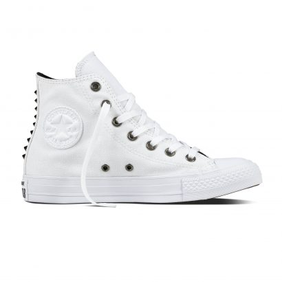 CTAS CANVAS & STUDS HI WHITE