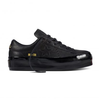 ONE STAR PLATFORM PREMIUM LEATHER OX BLACK
