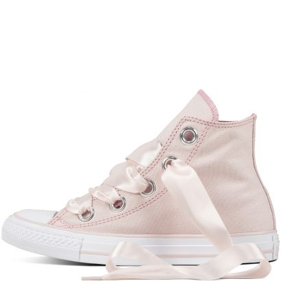 CTAS BIG EYELETS PASTEL CANVAS HI PINK