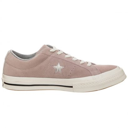 ONE STAR SUEDE METALLIC LOGO OX VINTAGE PINK