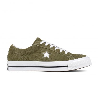 KIDS ONE STAR VINTAGE SUEDE OX OLIVE GREEN