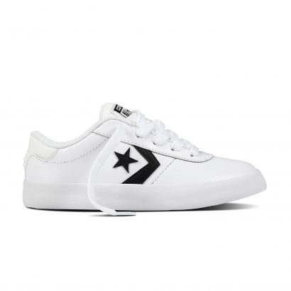 KIDS POINT STAR LEATHER OX WHITE