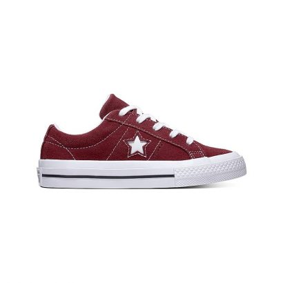 KIDS ONE STAR VINTAGE SUEDE OX DARK BURGUNDY