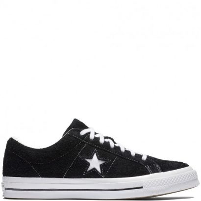 KIDS ONE STAR SUEDE LEATHER OX BLACK