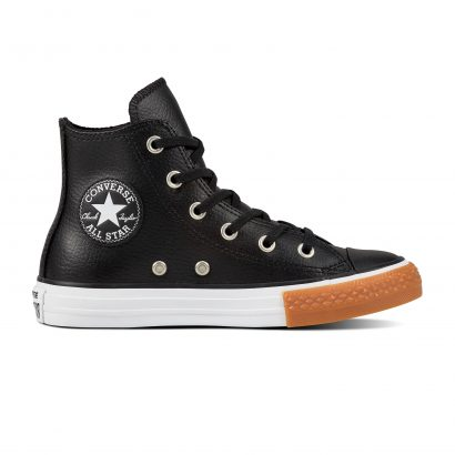 KIDS CTAS LEATHER HI BLACK