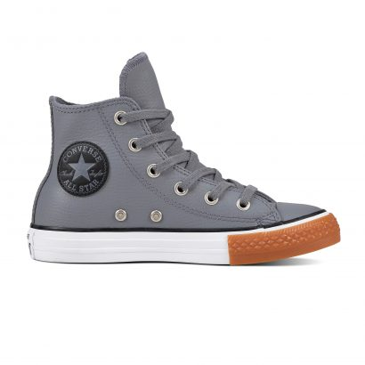 KIDS CTAS LEATHER HI COOL GREY