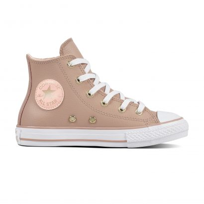 KIDS CTAS LEATHER HI BEIGE