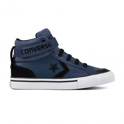 KIDS PRO BLAZE STRAP LEATHER HI NAVY