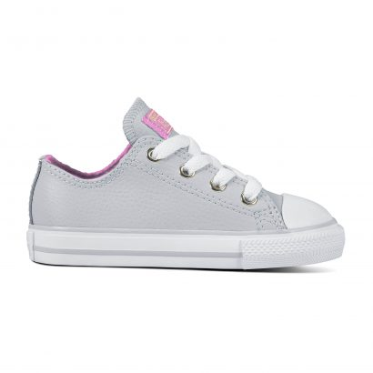 KIDS CTAS LEATHER OX PURE PLATINUM