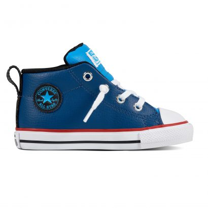 KIDS CTAS STREET LEATHER MID BLUE
