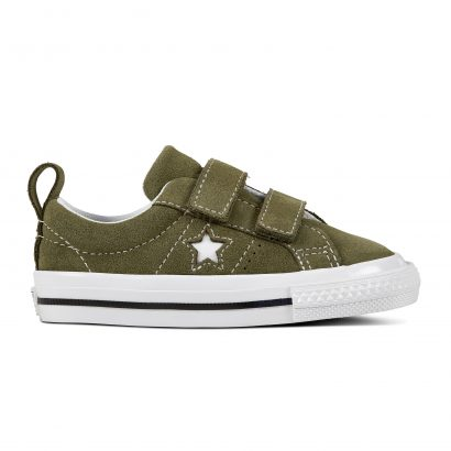 KIDS ONE STAR 2V VINTAGE SUEDE OX OLIVE GREEN