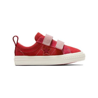 KIDS ONE STAR 2V COLORBLOCK OX ENAMEL RED