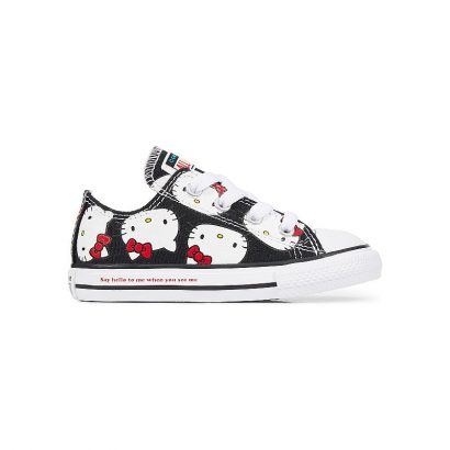 KIDS CTAS CLASSIC HELLO KITTY OX BLACK