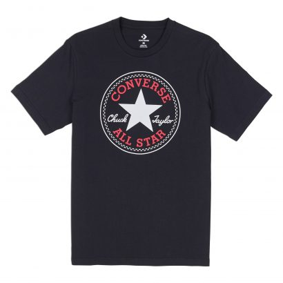 MEN CONVERSE CHUCK PATCH TEE SHORT SLEEVE BLACK