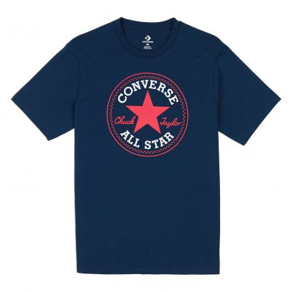 MEN CONVERSE CHUCK PATCH TEE SHORT SLEEVE BLUE