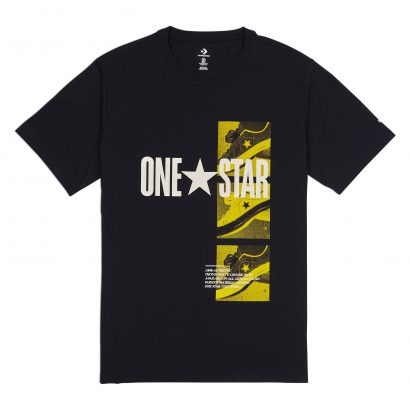MEN CONVERSE ONE STAR PHOTO SHORT SLEEVE TEE BLACK
