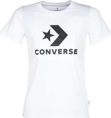 WOMEN STAR CHEVRON CORE SS SHORT SLEEVE TEE WHITE