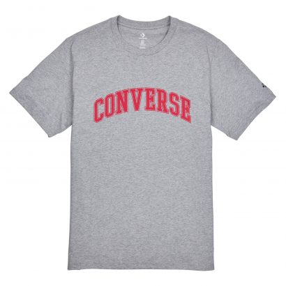 MEN CONVERSE COLLEGIATE TEXT SS TEE SHORT SLEEVE GREY