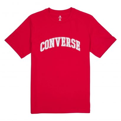 MEN CONVERSE COLLEGIATE TEXT SS TEE SHORT SLEEVE RED