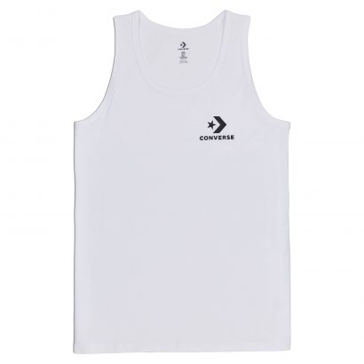 MEN CONVERSE STAR CHEVRON TANK SLEEVELESS WHITE